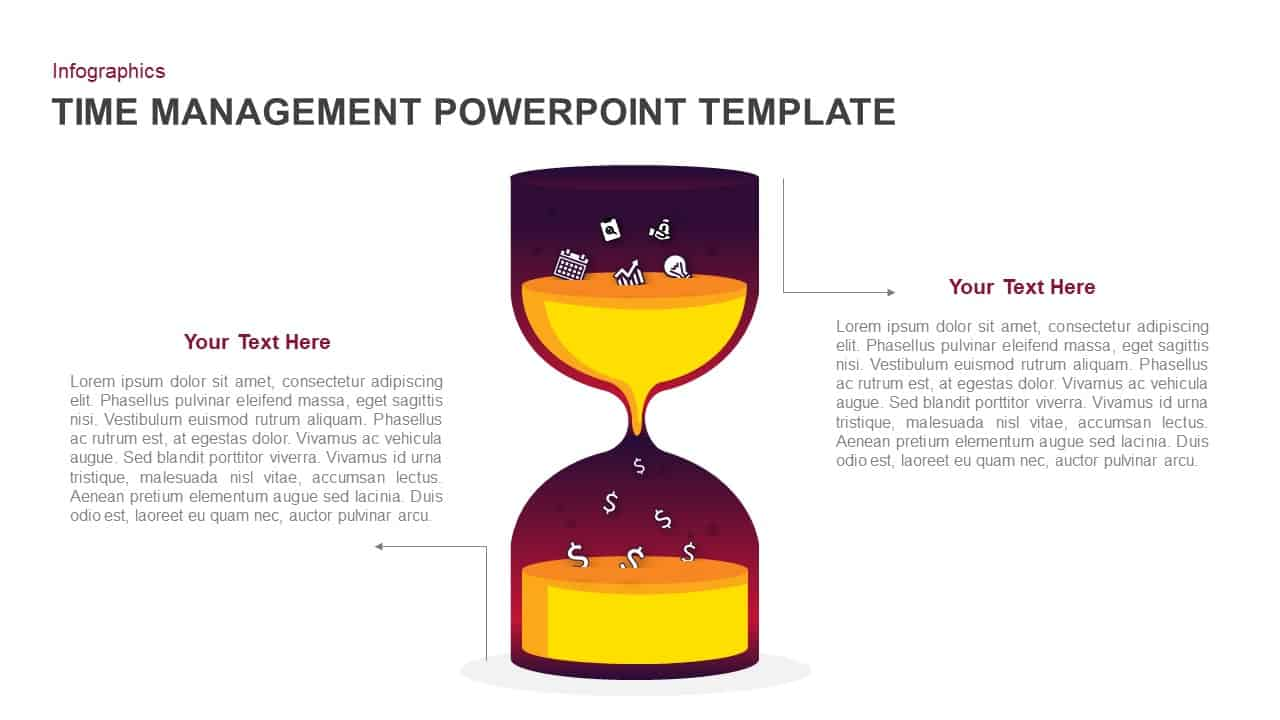 Time management PowerPoint template and keynote
