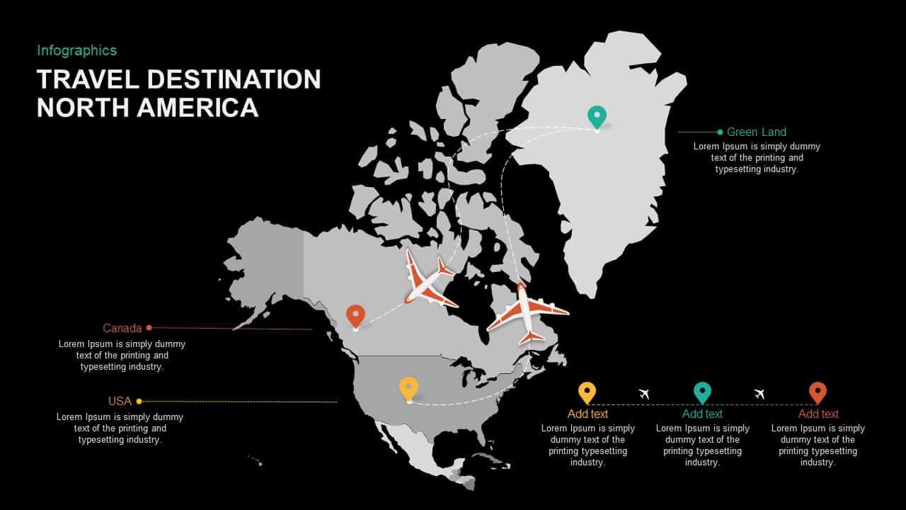 Tourist destinationPowerPoint template North America