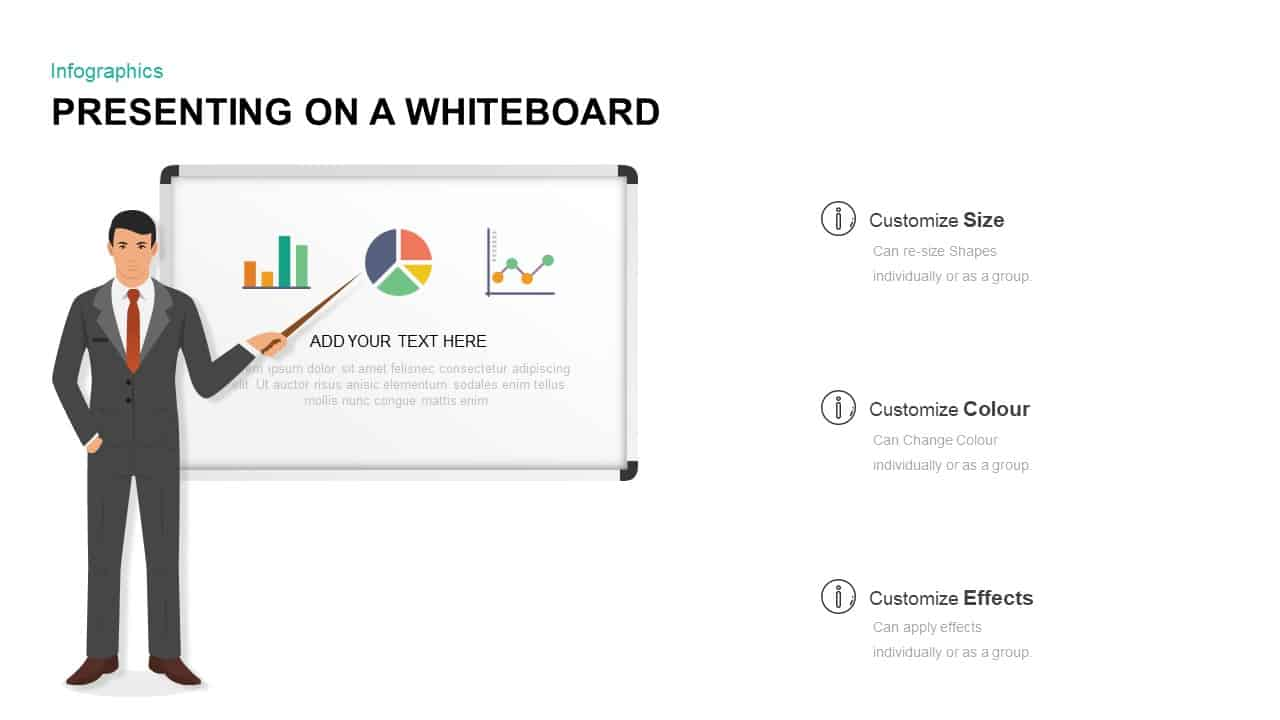 whiteboard PowerPoint template and keynote