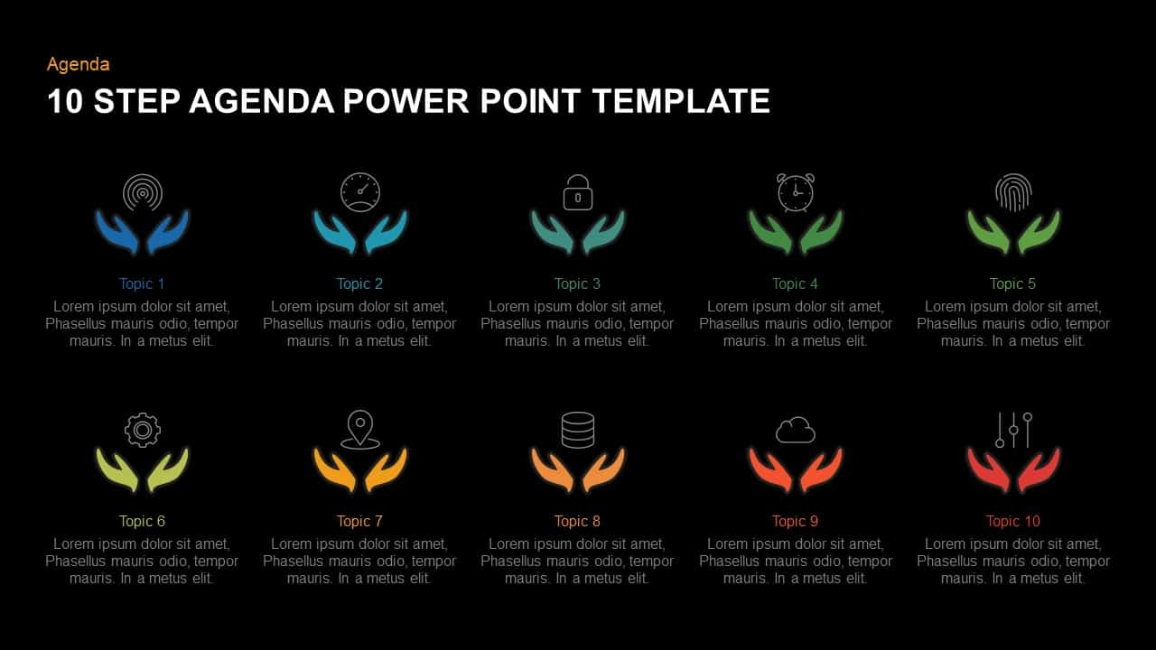 10 Step Agenda Template for PowerPoint