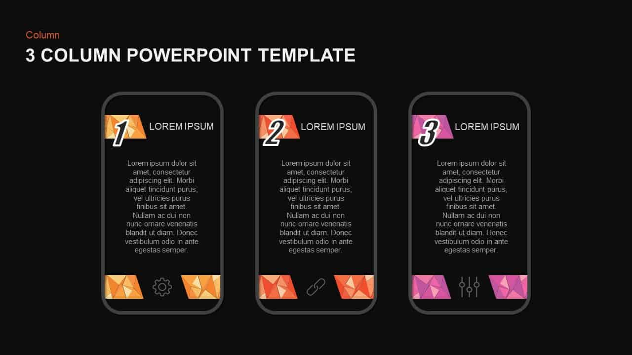 3 Column Template for PowerPoint