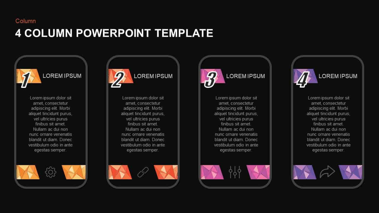 4 Column Template for PowerPoint