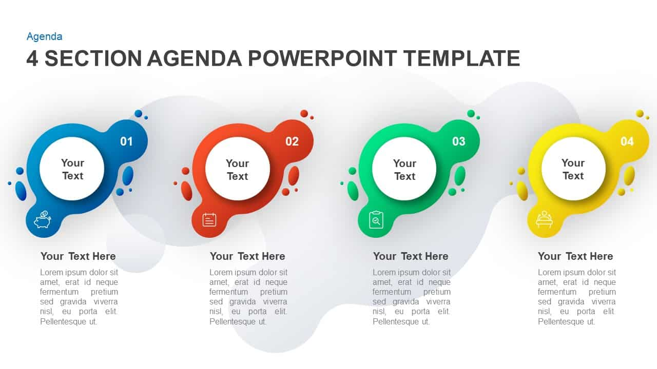 4 step agenda PowerPoint template