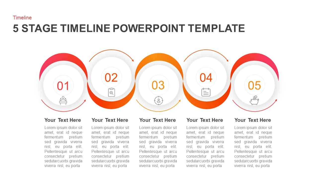 5 Stages Timeline PowerPoint Template