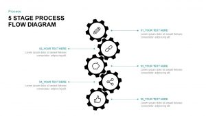 5 Stage Process Flow Diagram for PowerPoint & Keynote