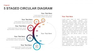 5 Staged Circular Diagram PowerPoint Template & Keynote