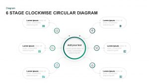 6 Stages Clockwise Circular Diagram Template for PowerPoint & Keynote