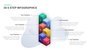 6 Step Infographic 3D PowerPoint Template & Keynote