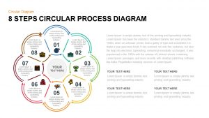8 Step Circular Process Diagram PowerPoint & Keynote Template