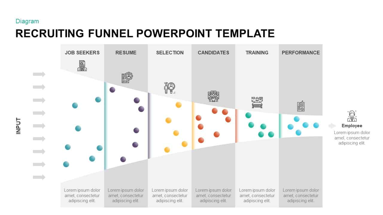 Recruiting Funnel Diagram for PowerPoint