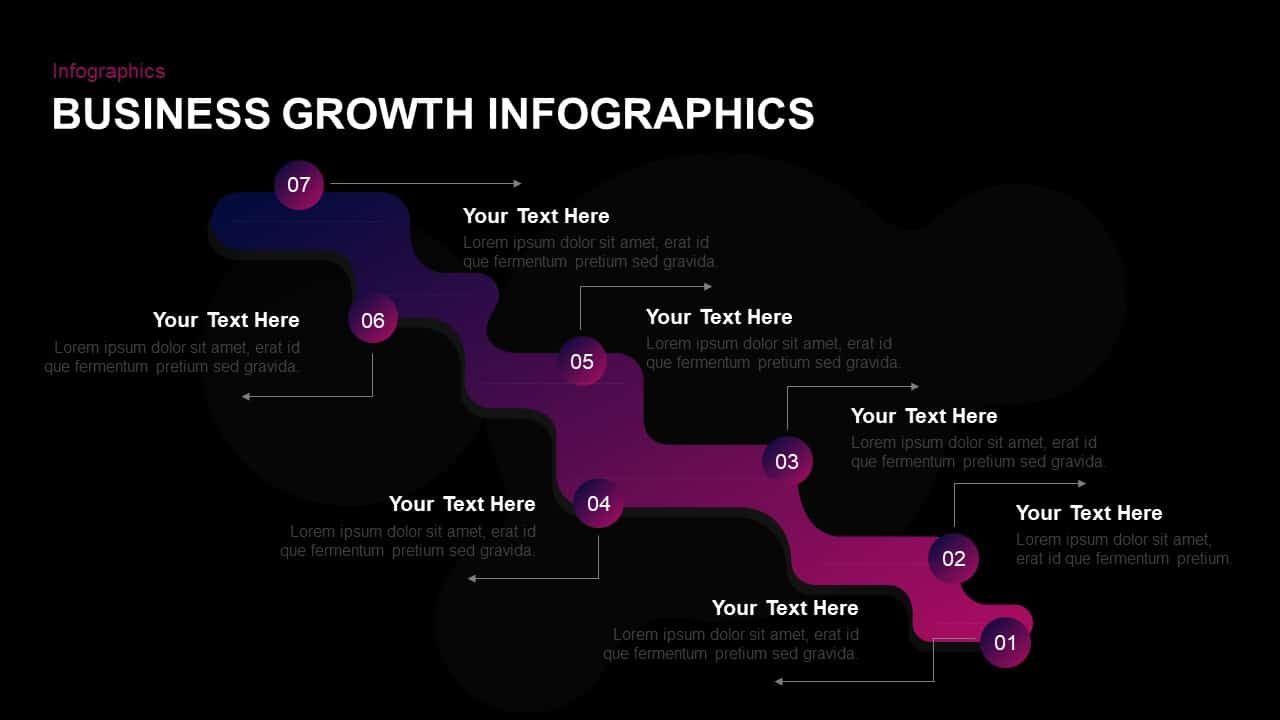 Business Growth Infographic Template for PowerPoint