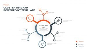 Cluster Diagram PowerPoint Template & Keynote