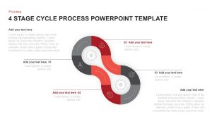 4 Stage Cycle Process PowerPoint Template & Keynote Diagram