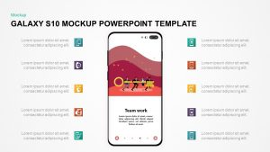 Galaxy S10 Mockup PowerPoint Template & Keynote