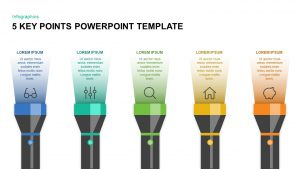 5 Key Points PowerPoint Template & Keynote Diagram