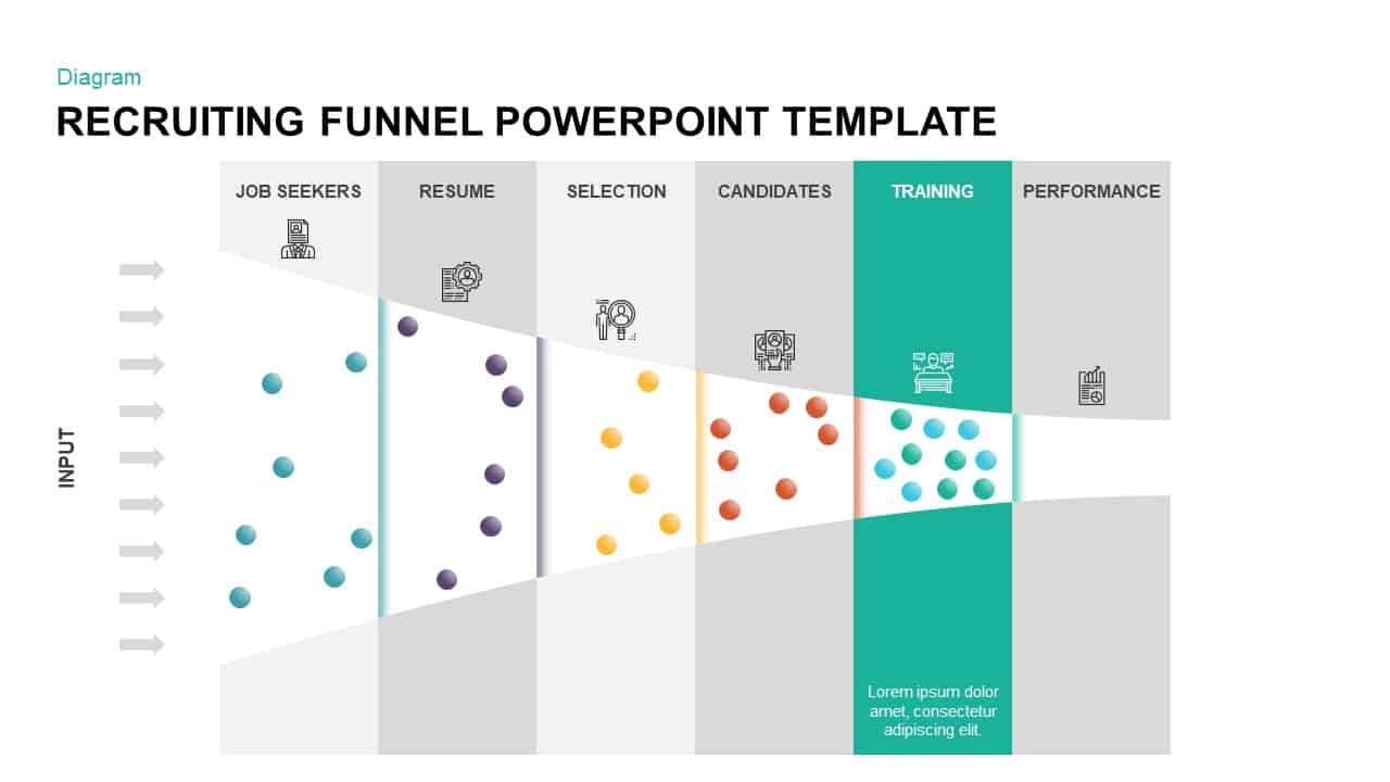 Recruiting Funnel PowerPoint Template