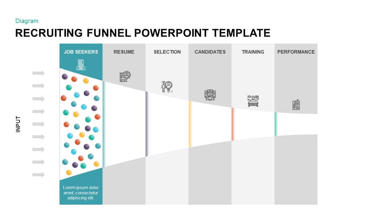 Recruiting Funnel Template for PowerPoint