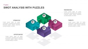 SWOT Analysis with Puzzle Pieces Template for PowerPoint & Keynote