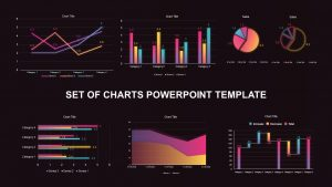 Set of Chart PowerPoint Template and Keynote Diagram
