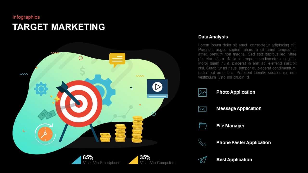 Target audience PowerPoint slide template