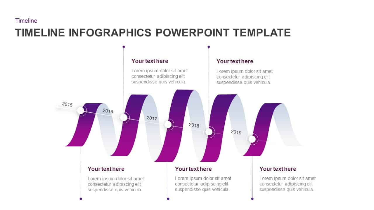 Timeline Infographics Ribbon PowerPoint Template