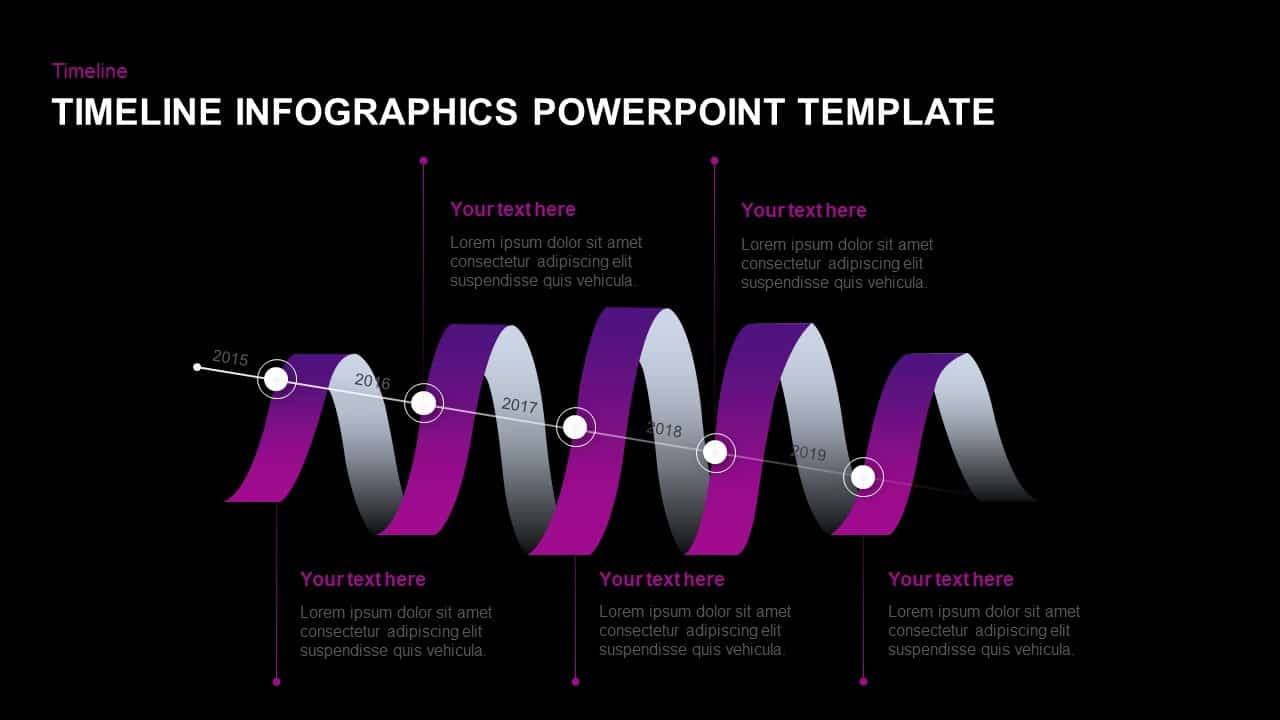 Timeline Infographics Ribbon Template for PowerPoint & Keynote