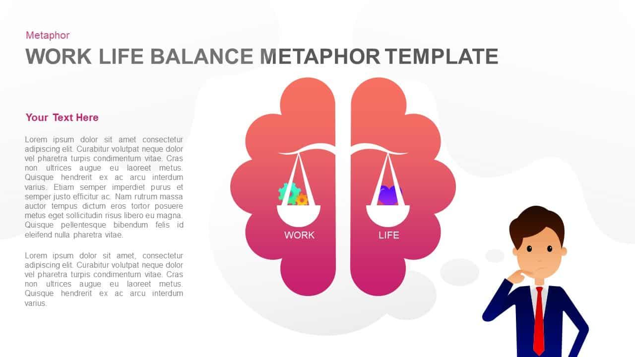 Work life balance PowerPoint template