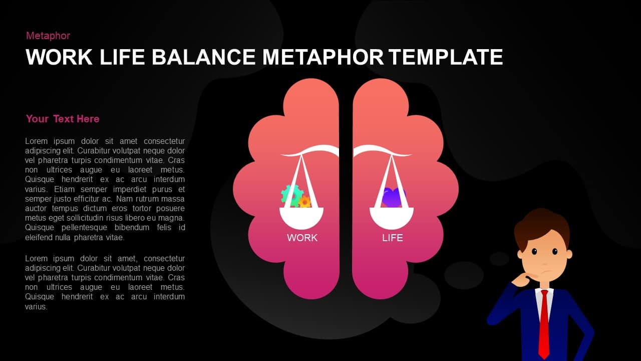 Work life balance template for PowerPoint