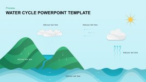 Water Cycle PowerPoint Template & Keynote Diagram