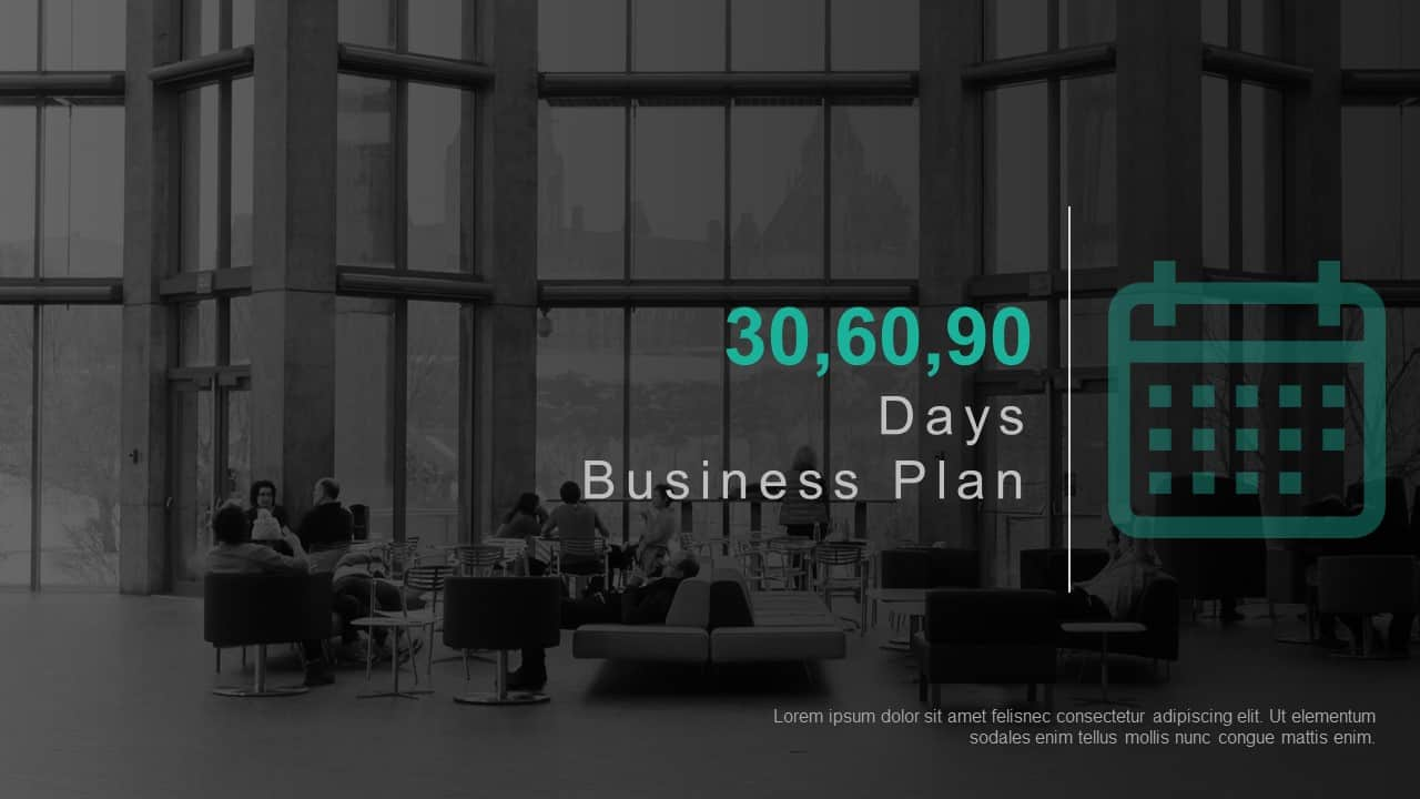 30 60 90 Day Business Plan PowerPoint Template
