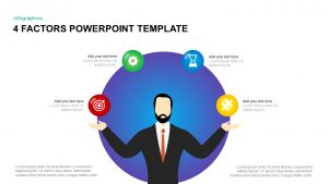 4 Factors PowerPoint Template & Keynote Diagram