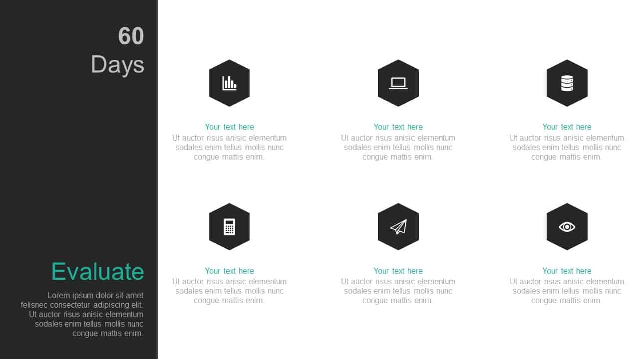 60 Day Business Plan PowerPoint Template