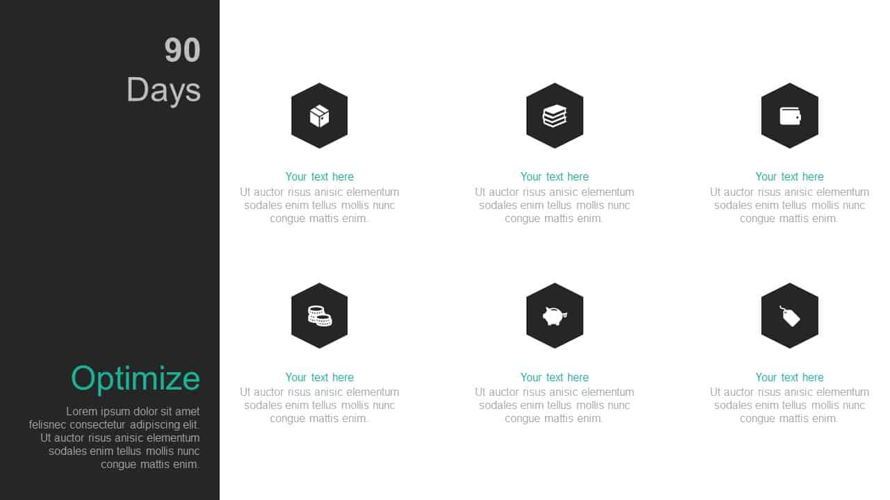 90 Day Business Plan PowerPoint Template