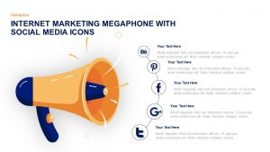 Internet Marketing Megaphone With Social Media Icons