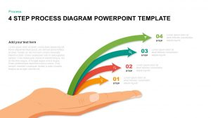 4 Step Process Diagram Template for PowerPoint & Keynote