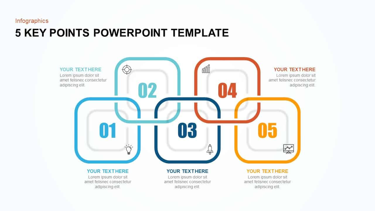 5 Key Points Template for PowerPoint