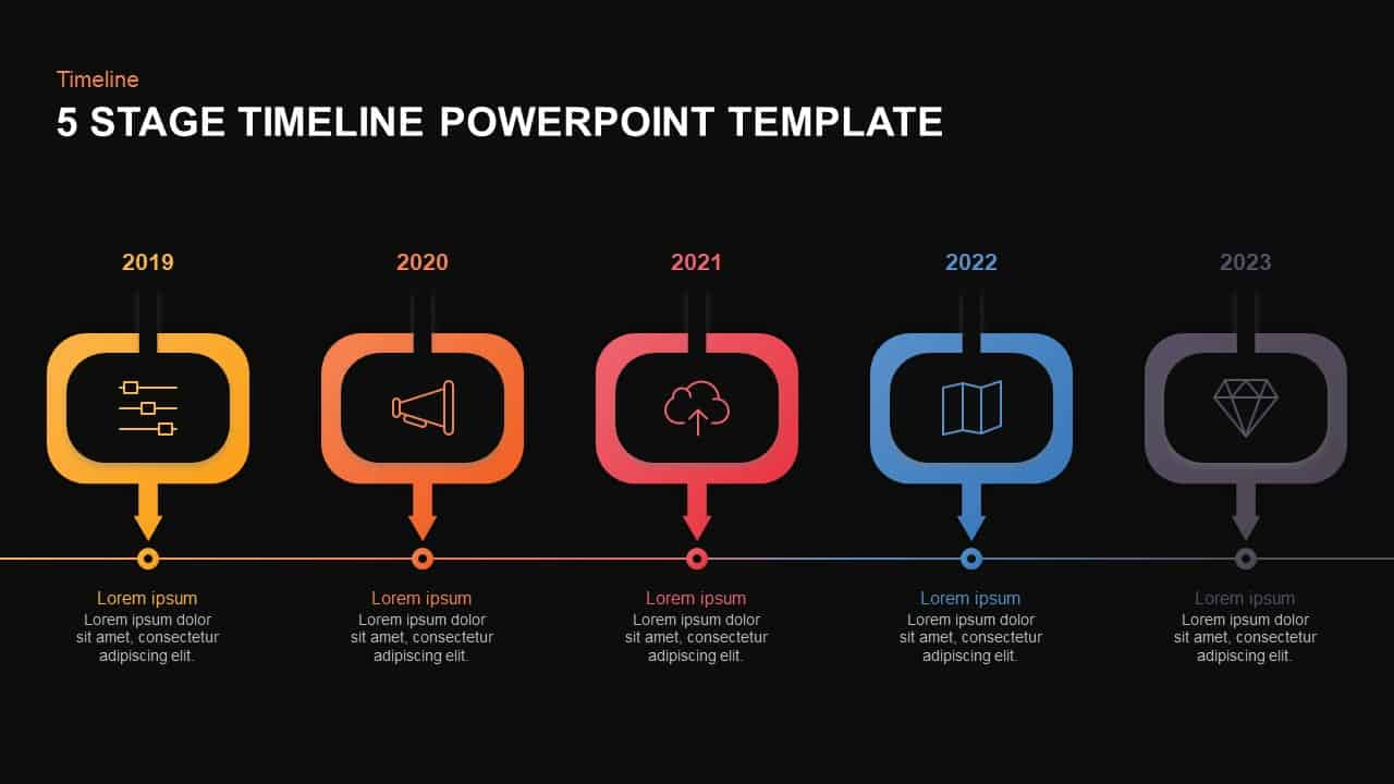 5 Level Timeline PowerPoint Template