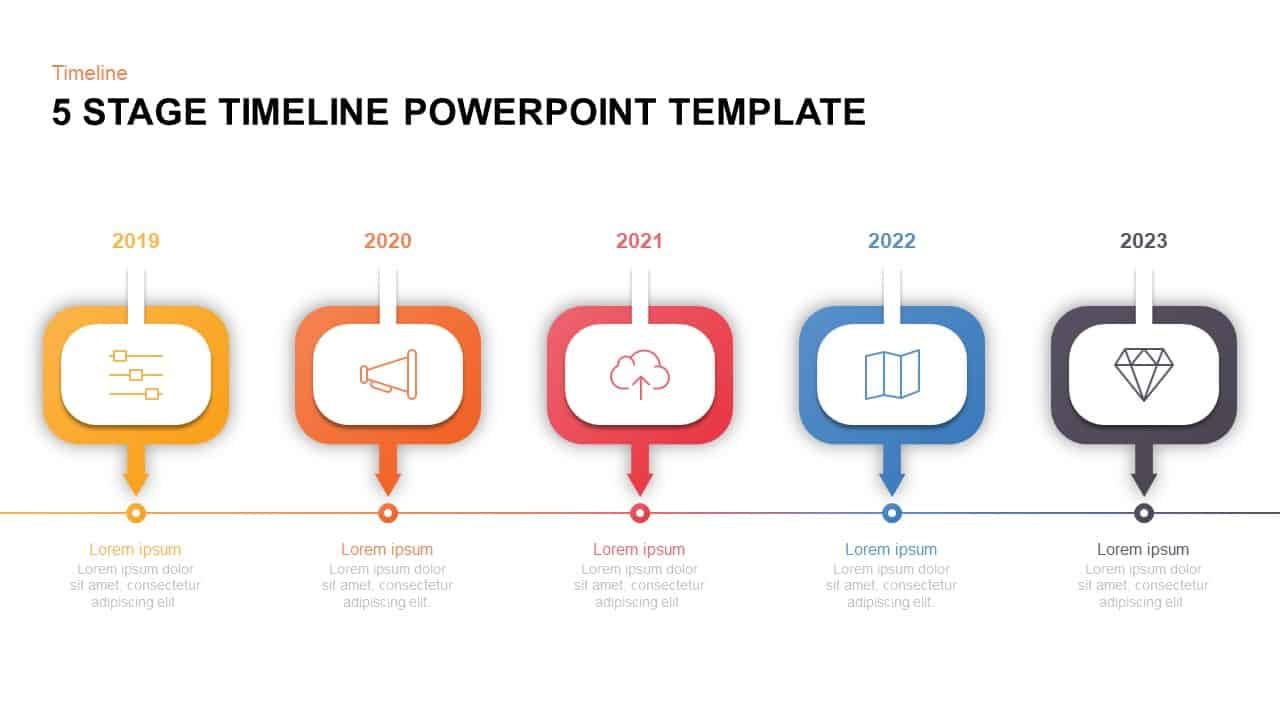 5 Level Timeline Template for PowerPoint