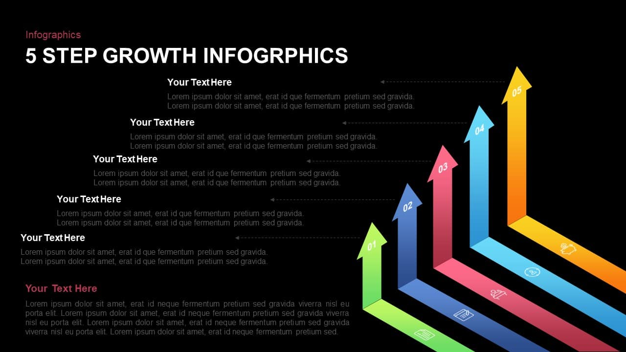 5 Step Growth Infographic PowerPoint Template