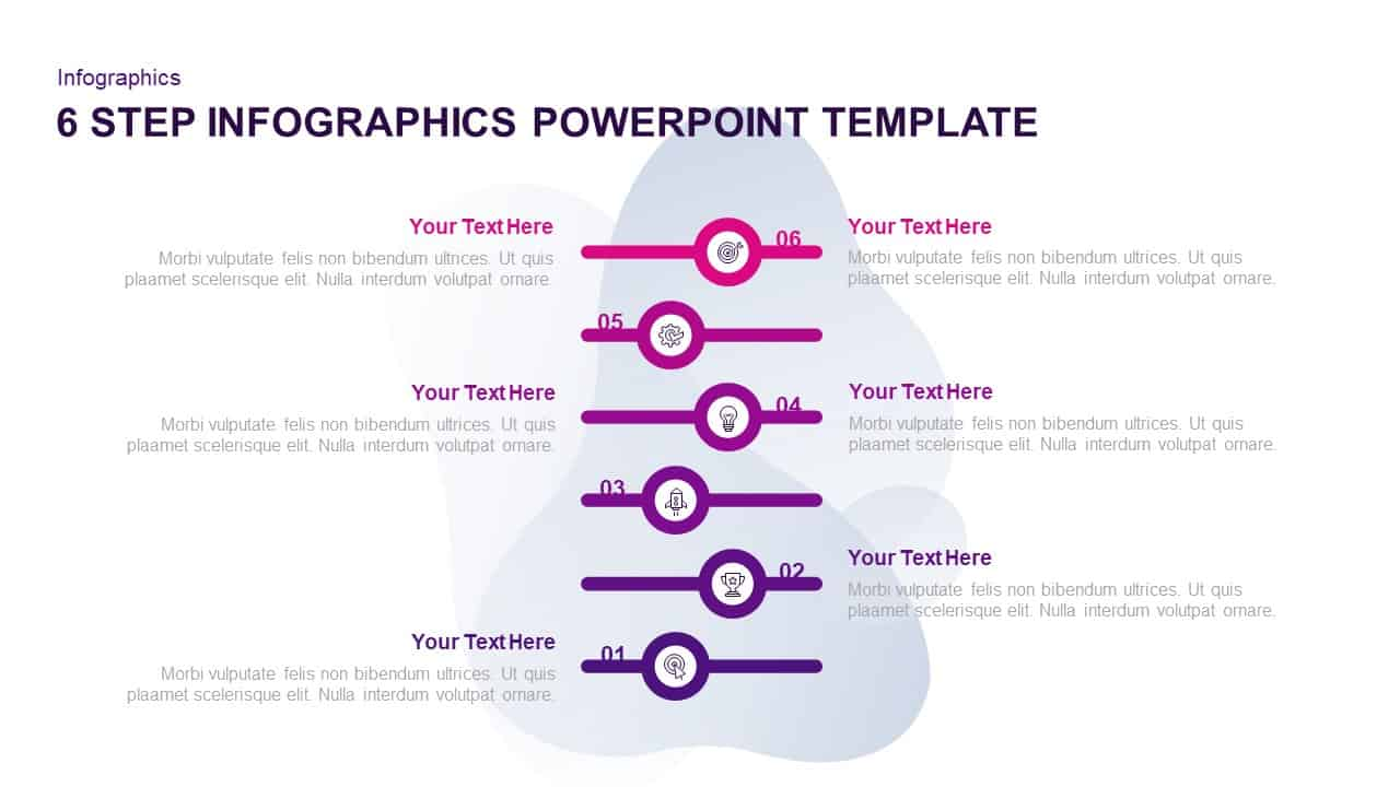 6 Step Infographic Template for PowerPoint