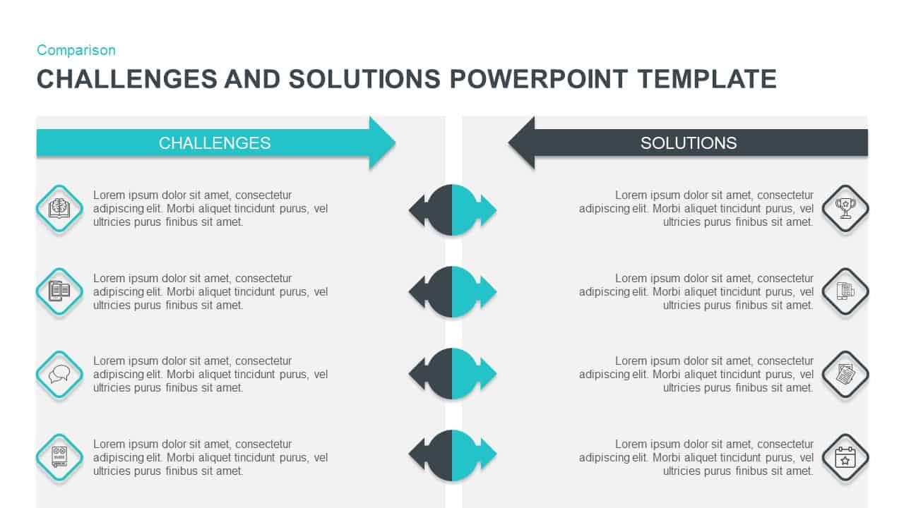 Challenges  U0026 Solutions Powerpoint Template