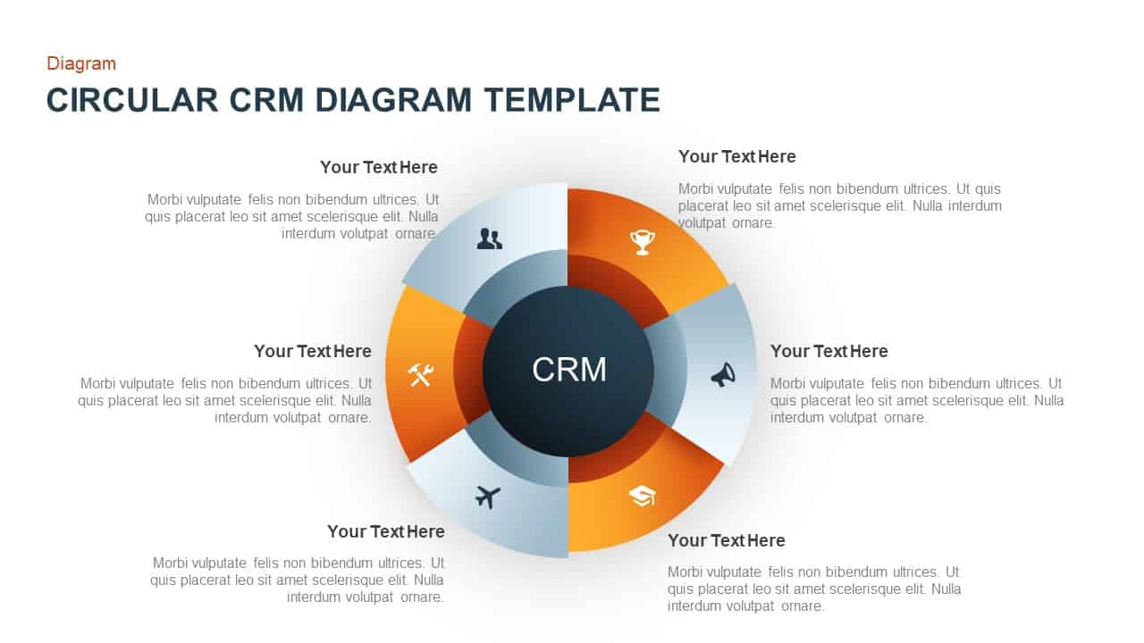 Circular CRM Diagram for PowerPoint