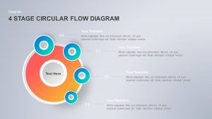 4 Step Circular Flow Diagram PowerPoint Template & Keynote