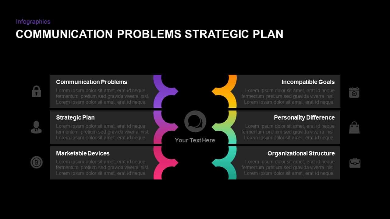 Communication Problems Strategic Plan PowerPoint Template