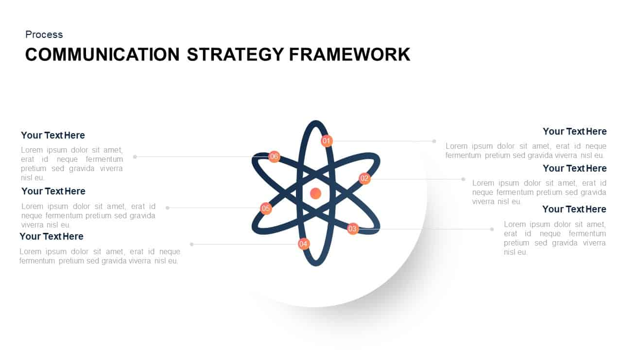 Communication Strategy Framework Template for PowerPoint
