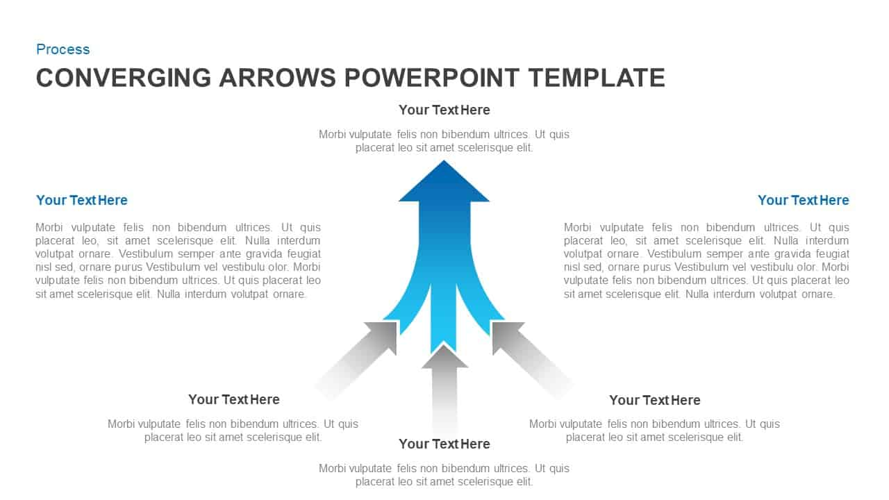 Converging Arrows PowerPoint Template