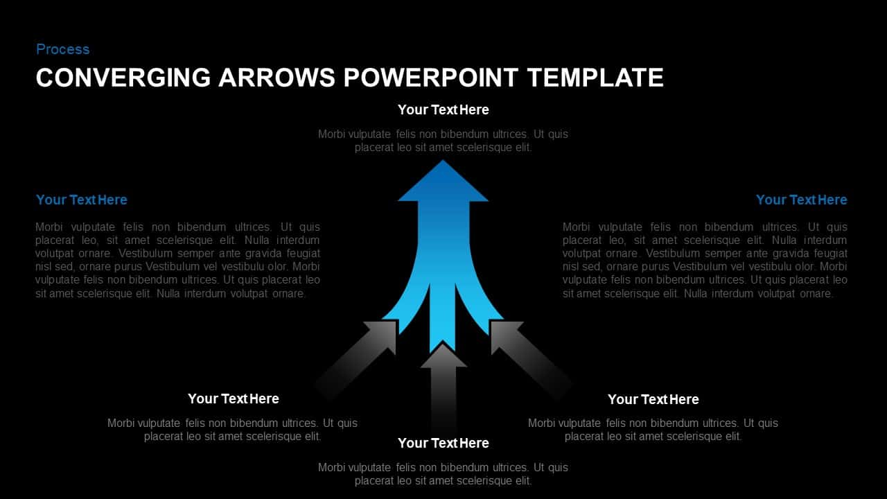 Converging Arrows Template for PowerPoint