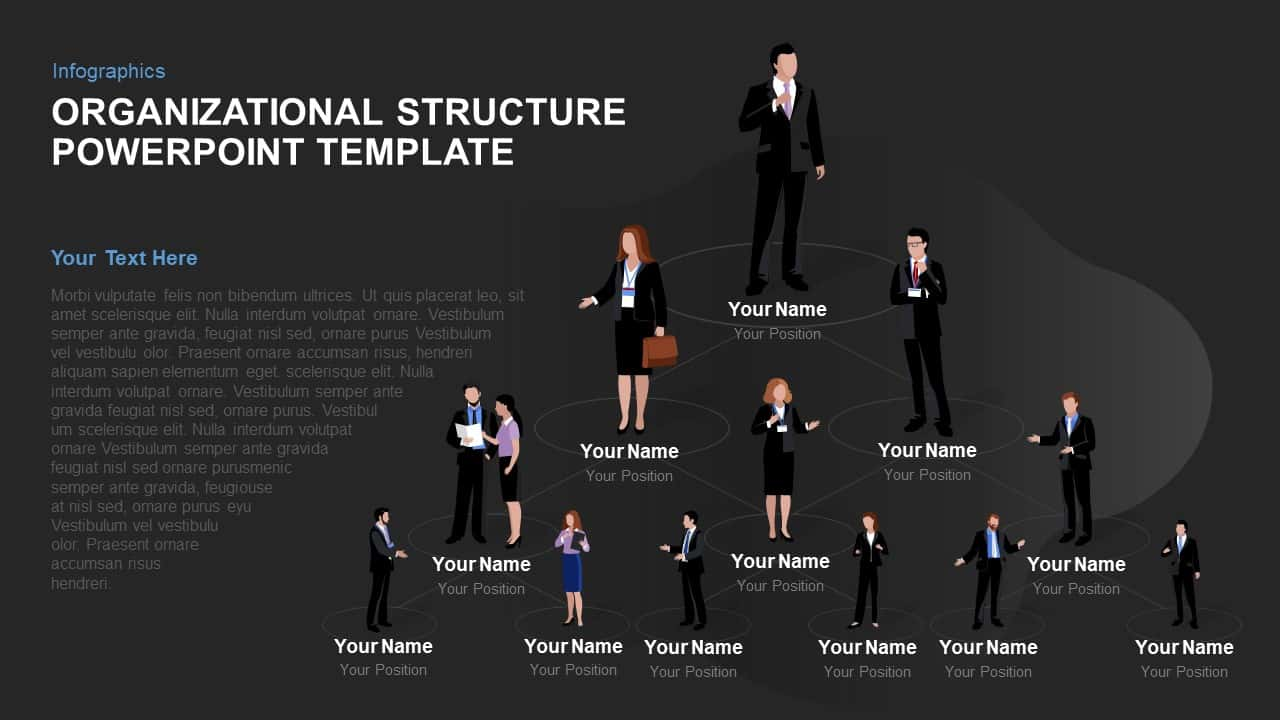 Organizational Structure Template for PowerPoint