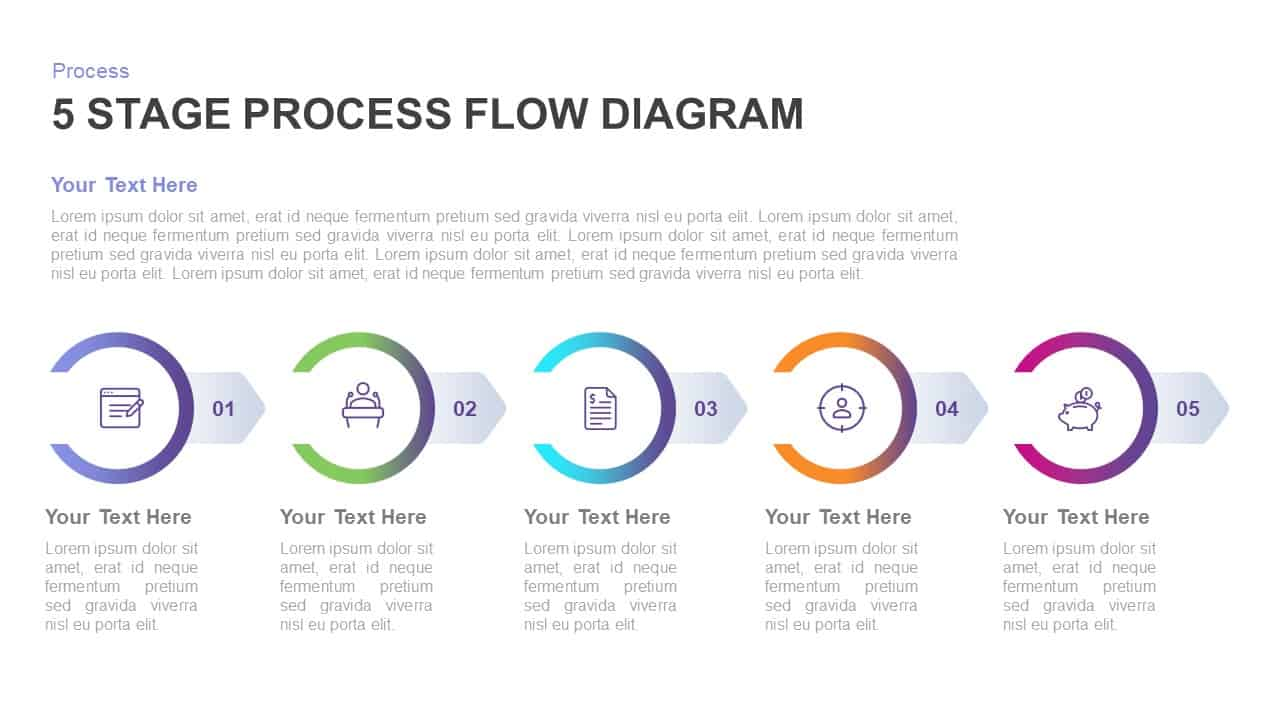 purpose of process flow diagram 5 stage process flow diagram template for powerpoint   keynote  5 stage process flow diagram template