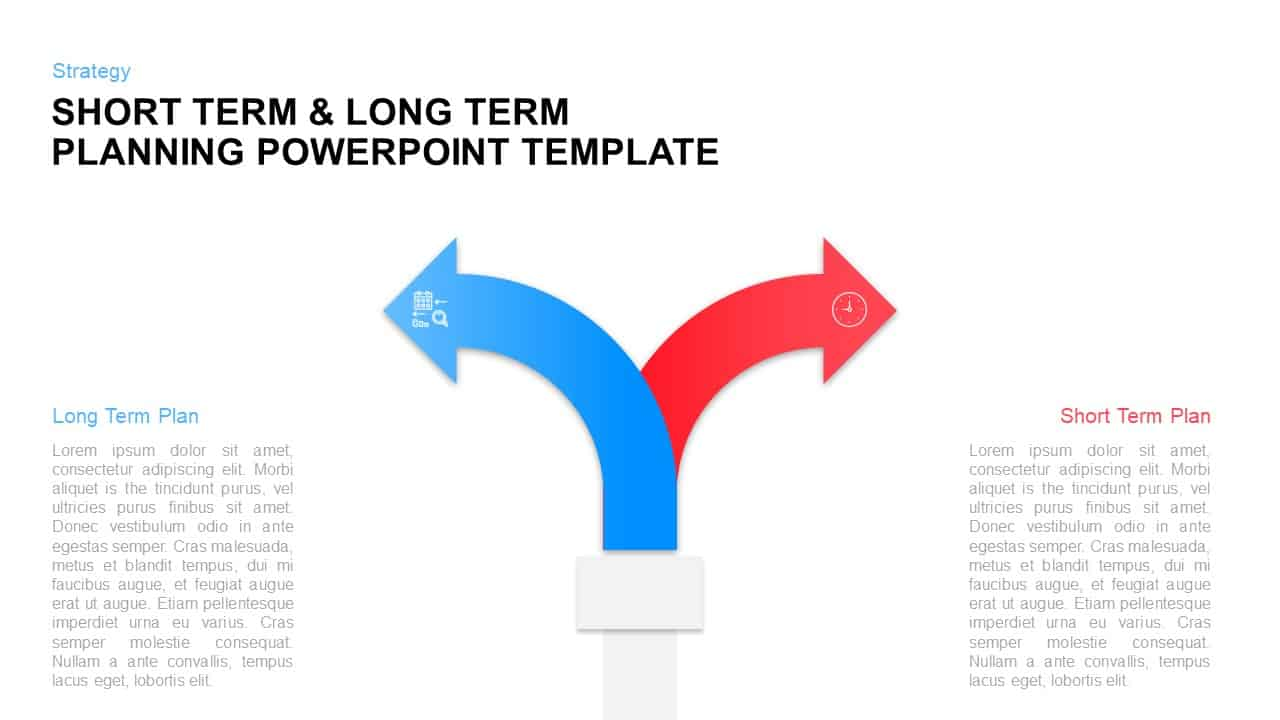 Short Term Long Term Planning Template for PowerPoint